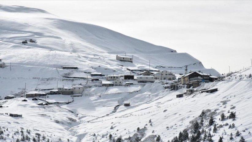 2 bin 100 rakımlı Zigana Dağı'nda kış güzelliği