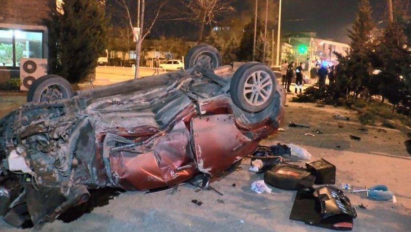 Tuzla'da takla atan araç bahçeye girdi! Üç kişi yaralandı