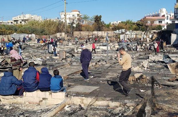 Kampları yakıldı: 80 Suriyeli aile sokakta kaldı