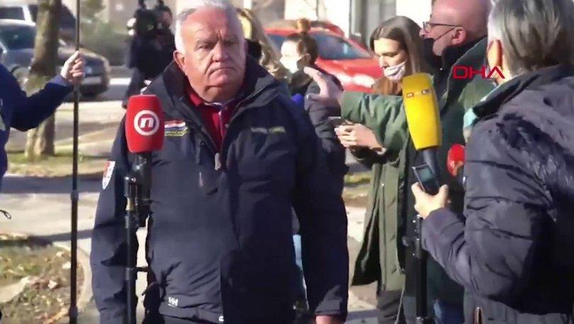 SON DAKİKA: Korku dolu anlar: Hırvatistan'da belediye başkanı canlı yayında depreme yakalandı! - Haberler