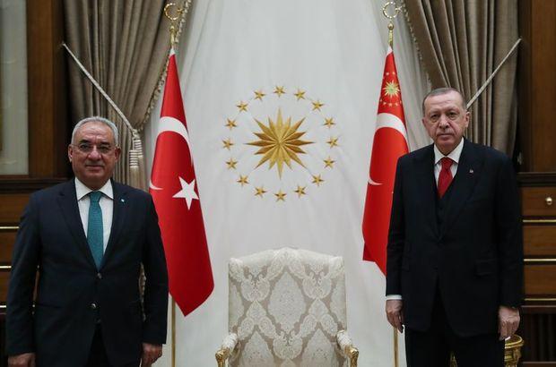 DSP genel Başkanı Aksakal'ı kabul etti