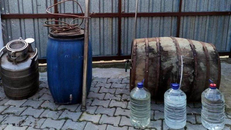 Tekirdağ'da 1391 litre ve 151 şişe kaçak içki ele geçirildi