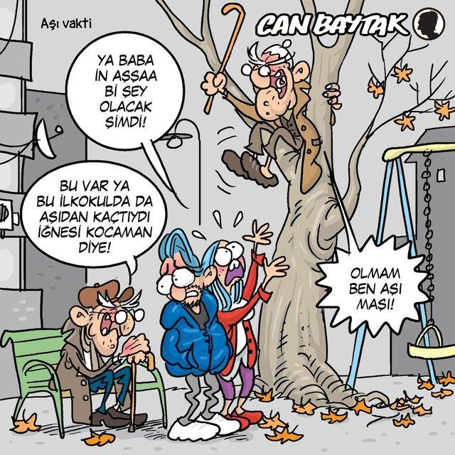 Can Baytak karikatürleri (Ocak 2021)