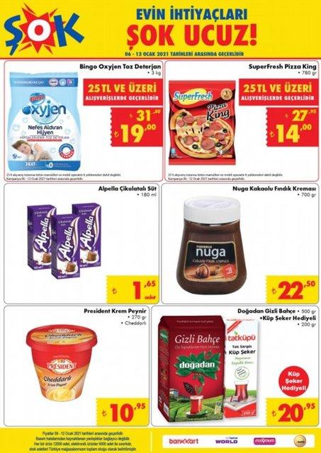ŞOK 6-12 Ocak 2021 Aktüel Ürünler Kataloğu: Bu hafta ŞOK indirimli ürünler listesinde neler var?
