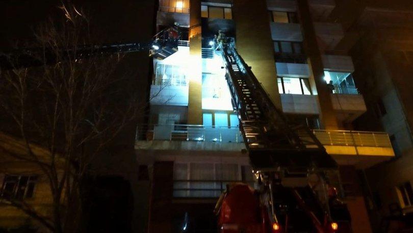 Beykoz'da 8 katlı binada yangın çıktı