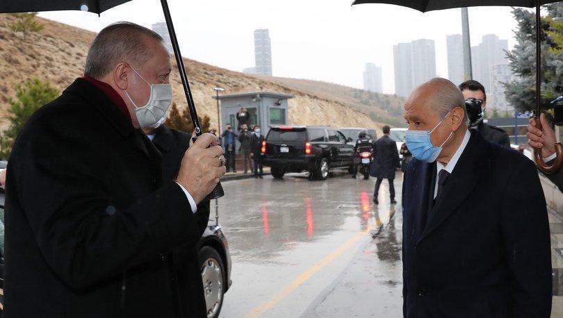 SÜRPRİZ GÖRÜŞME! Cumhurbaşkanı Erdoğan'dan Bahçeli'ye ev ziyareti! Son dakika haberleri