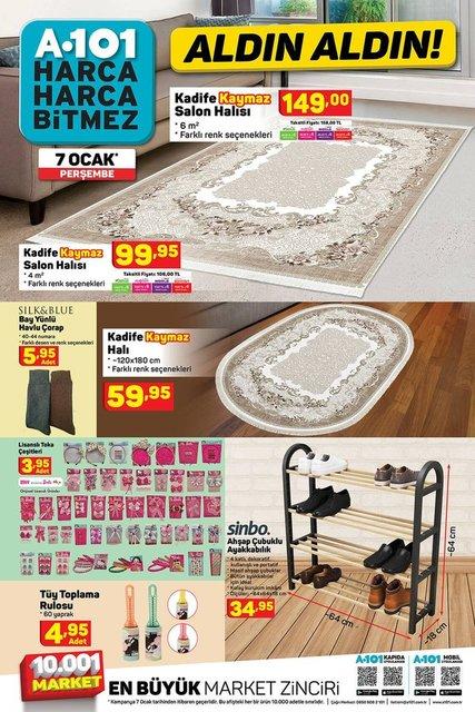 7 Ocak A101 Aktüel ürünler kataloğu burada! A101 haftanın indirimli ürünler listesi