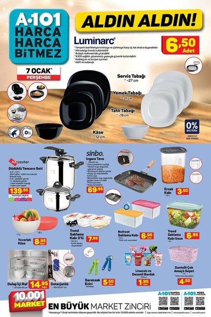 A101 7 Ocak 2020 Aktüel ürünler kataloğu! A101'de haftanın indirimli ürünler listesi