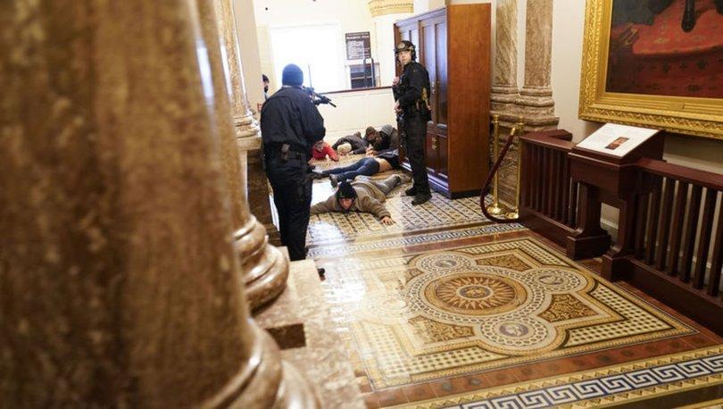 Son dakika... ABD polisi kongre binasında güvenliği sağladı