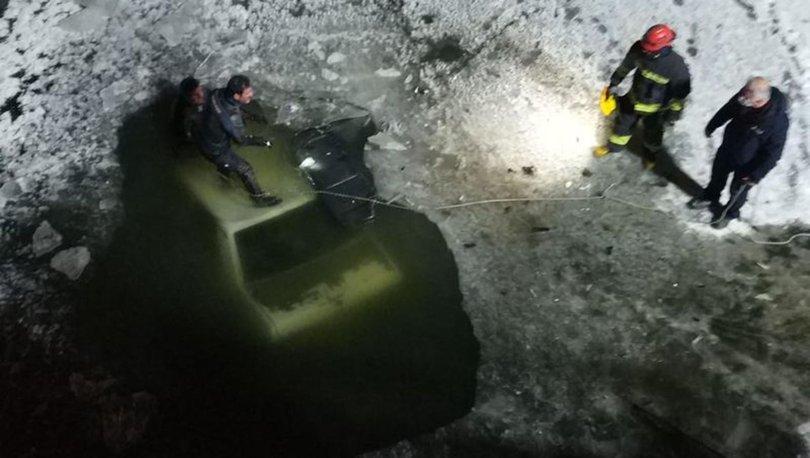 Erzurum'da otomobil nehre uçtu, sürücü hayatını kaybetti