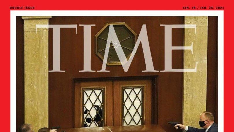 SON DAKİKA: ABD'deki kaosun ardından Time'dan çarpıcı kapak: Demokrasi saldırı altında!