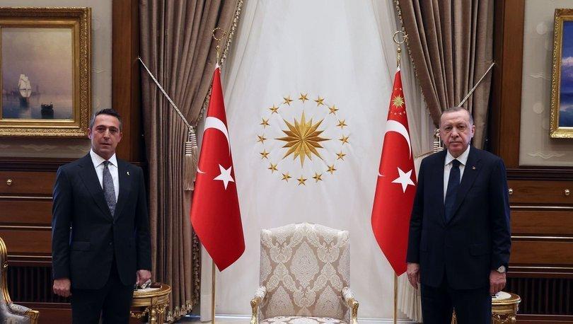 Cumhurbaşkanı Recep Tayyip Erdoğan, Fenerbahçe Başkanı Ali Koç'u kabul etti