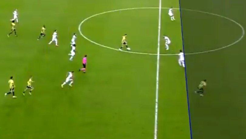Fenerbahçe - Alanyaspor maçında çekilen ofsayt çizgisi tartışma yarattı