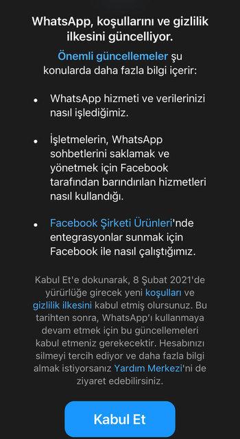Whatsapp'tan açıklama! Whatsapp sözleşmesi nedir, nasıl kabul edilir? İşte Whatsapp sözleşmesi maddeleri