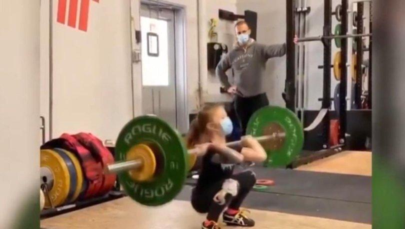 Kanadalı 7 yaşındaki halterci ABD şampiyonu oldu