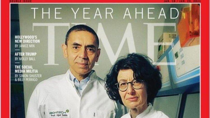 Prof. Dr. Uğur Şahin ve Özlem Türeci dünyaca ünlü Time dergisinin kapağında haber oldu