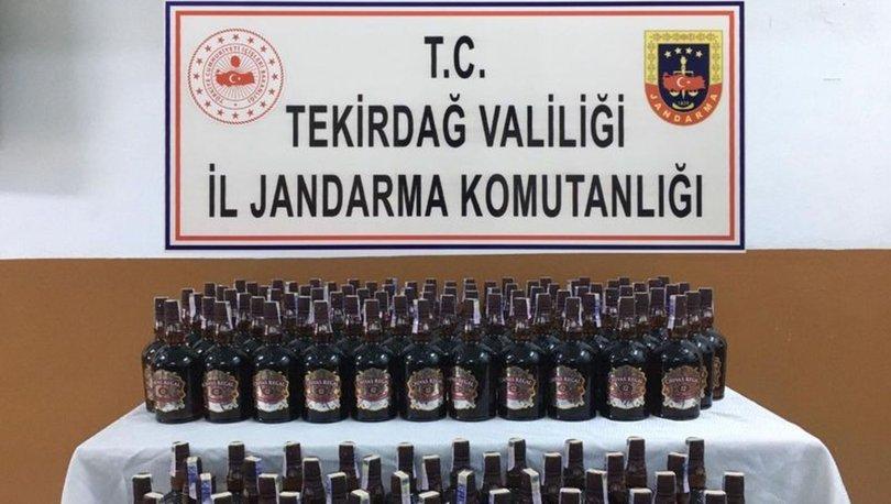 Tekirdağ'da 165 şişe kaçak içki ele geçirildi: 4 gözaltı