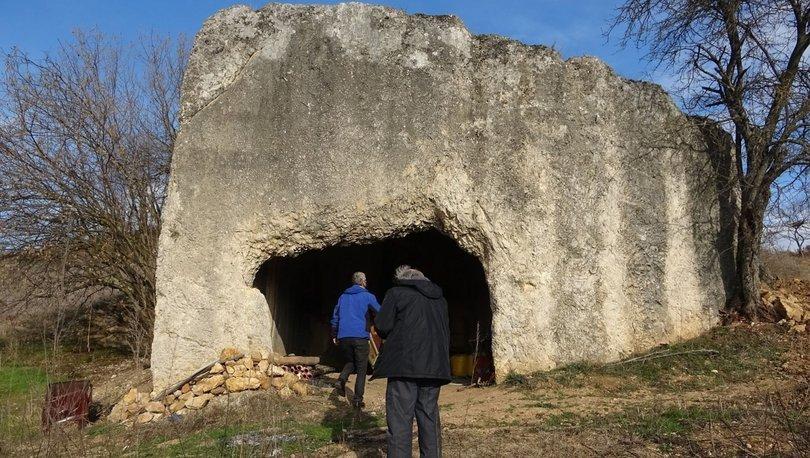SON DAKİKA: 2 bin yıllık kaya mezar bakın kime ait çıktı!