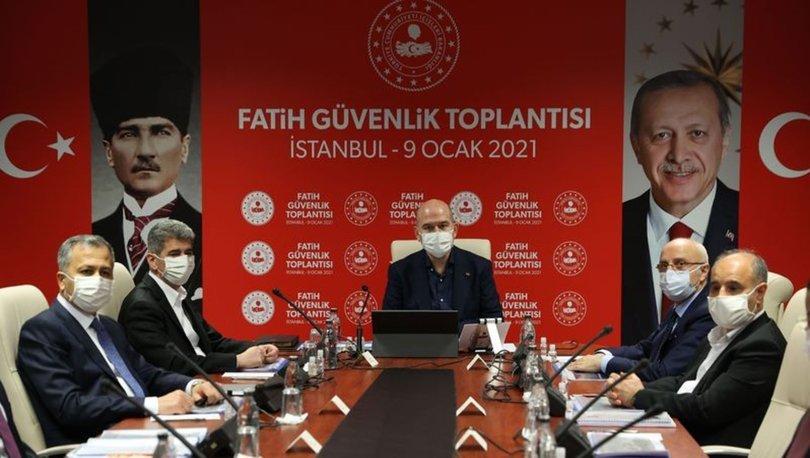 İçişleri Bakanı Soylu, Fatih Güvenlik Toplantısı'na katıldı