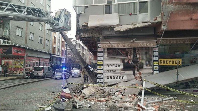 Son dakika haberi Sultangazi'de binanın balkonu çöktü!