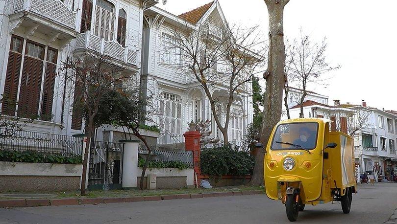 PTT'nin elektrikli araçları Adalar'da kullanılmaya başlandı