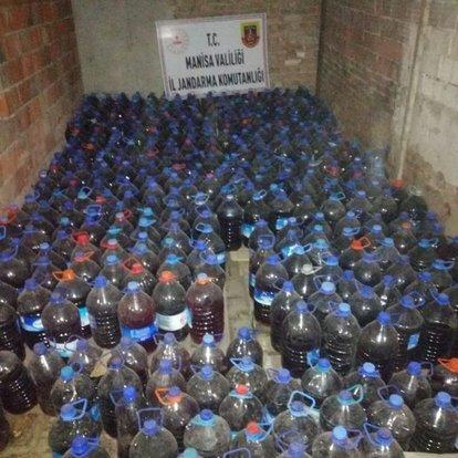 Manisa'da sahte içki operasyonu: 3 bin 365 litre ele geçirildi