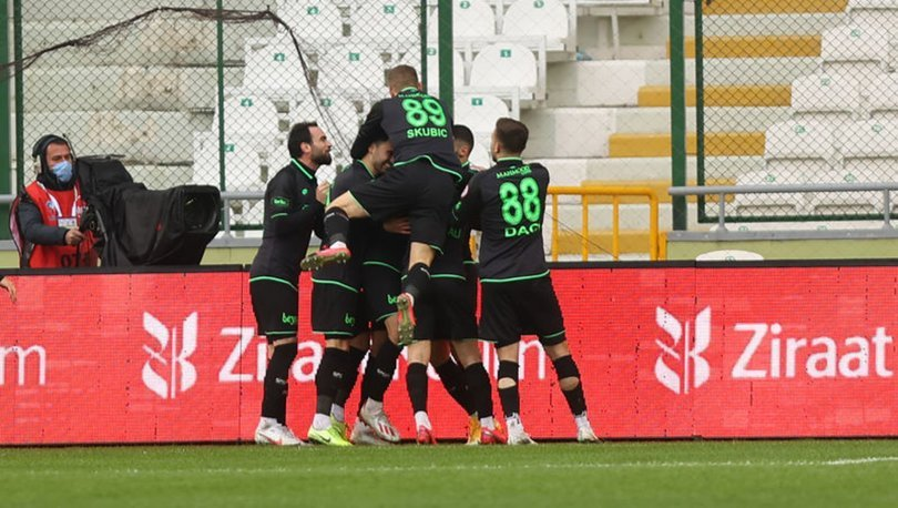 Konyaspor: 2 - Gaziantep FK: 1 (MAÇ SONUCU)