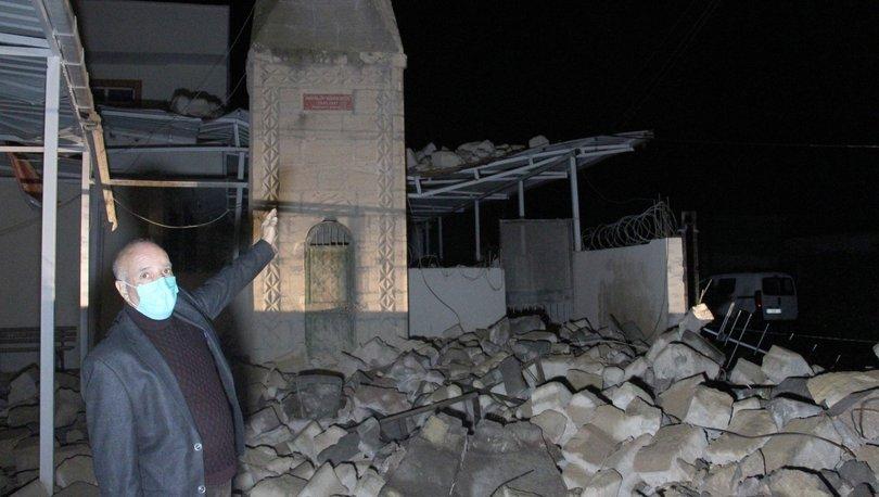 Fırtınada yıkılan minare trafonun üzerine devrildi - Haberler