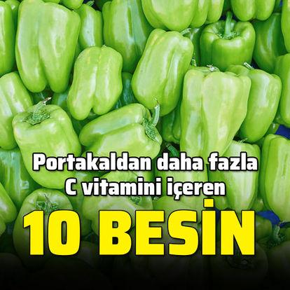 Portakaldan daha fazla C vitamini bulunan 10 besin