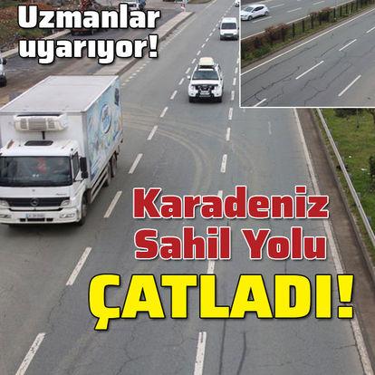 Karadeniz Sahil Yolu'nda 'çatlak' tehlikesi!