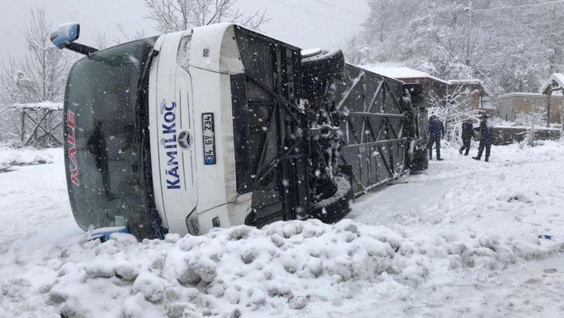 Son dakika haberi Yolcu otobüsü devrildi! Yaralılar var
