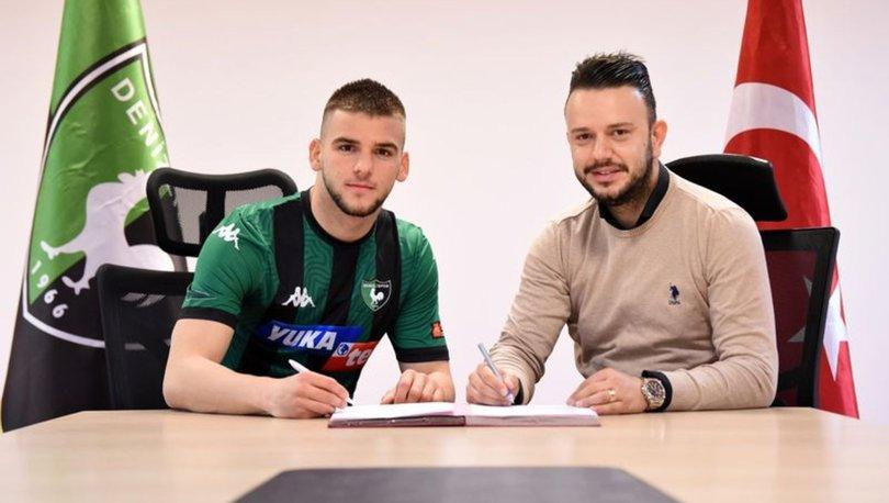 Denizlispor'da Kosovalı genç futbolcu Veton Tusha profesyonel oldu