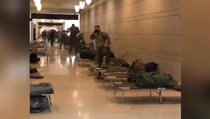DARBE GİBİ! Son dakika: ABD Kongre binasına askeri sedye yığını! - Haberler