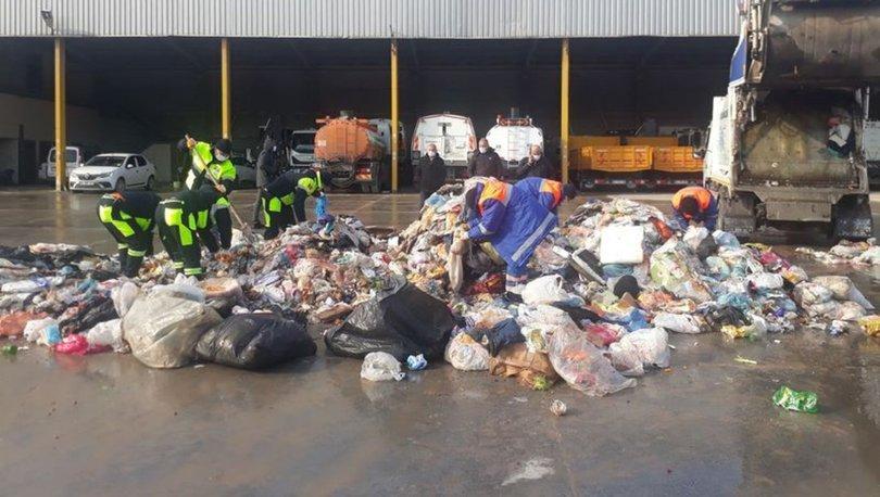 Yanlışlıkla çöpe atılan altınlar için belediye ekipleri seferber oldu