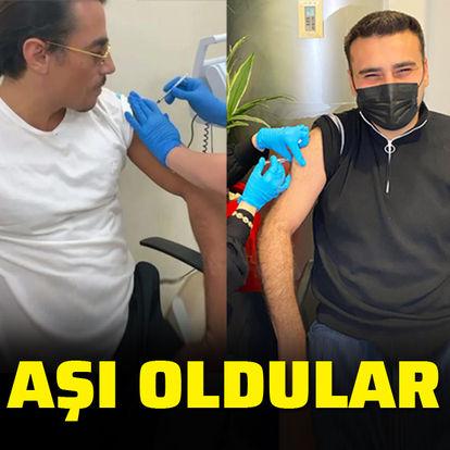 Aşı oldular