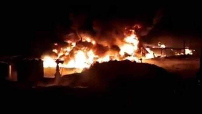 Suriye'de Esad rejimine ait petrol rafinesinde patlama
