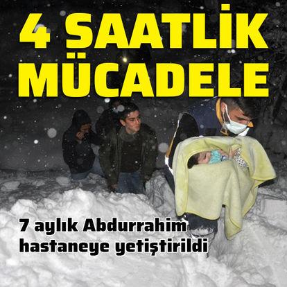 Hastane için karlar arasında 4 saat!