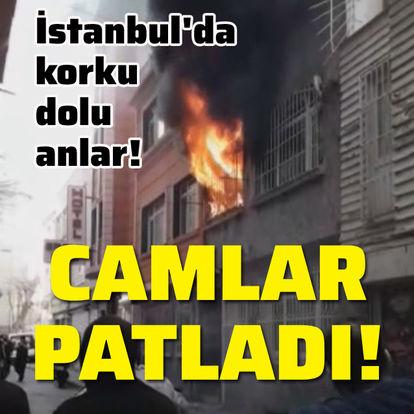 Alevlerin arasında mahsur kaldılar!