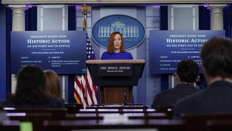 GERİ DÖNÜŞ! Son dakika: Beyaz Saray'ın yeni sözcüsünden ilk açıklama