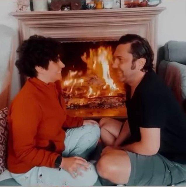 Son dakika: Halil Sezai ile Melike Beşli'nin şömine romantizmi