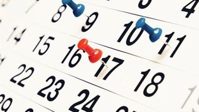 2021 yılı resmi tatilleri belli oldu! 2021 yılında dini bayramlar hangi güne denk geliyor?