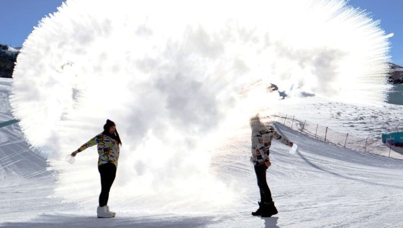 Erzurum'da kaydedildi! Son dakika: Bir anda buz oldu! - Haberler