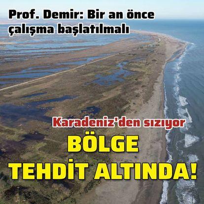 Kızılırmak Deltası tuzlu su tehdidi altında
