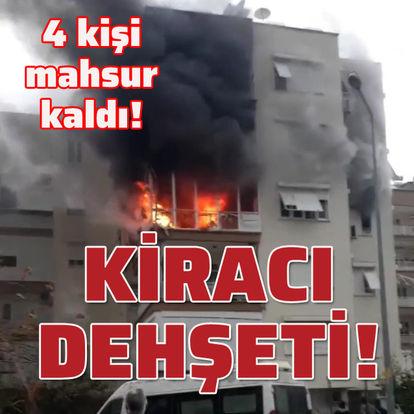 Antalya'da kiracı dehşeti! 4 kişi dumandan etkilendi