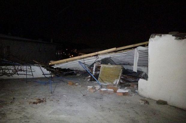 Bursa'da lodos çatı uçurdu!