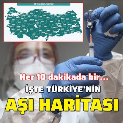 İşte Türkiye'nin aşı haritası! Her 10 dakikada bir...