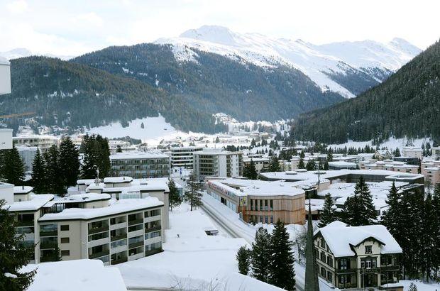 Davos sokakları boş kaldı