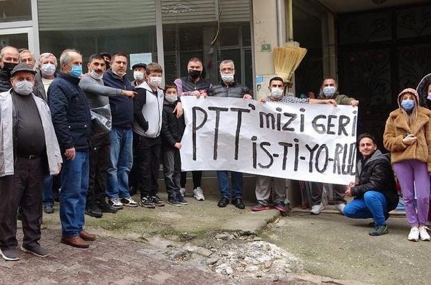 """""""PTT binamızı geri istiyoruz"""" eylemi"""