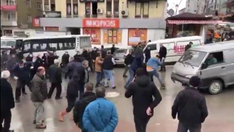 Son dakika: Otobüs ve minibüs şoförleri birbirine girdi! - Haberler