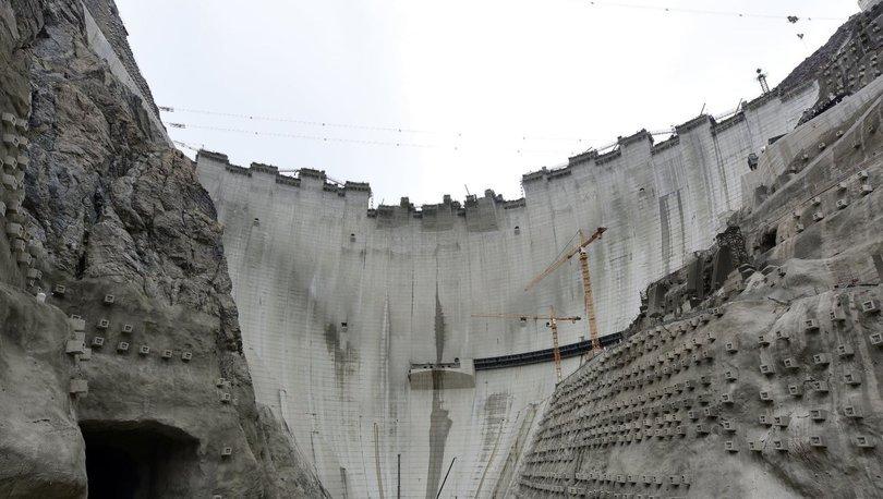 Yusufeli Barajı gövde inşaatının yüzde 96'sı tamamlandı